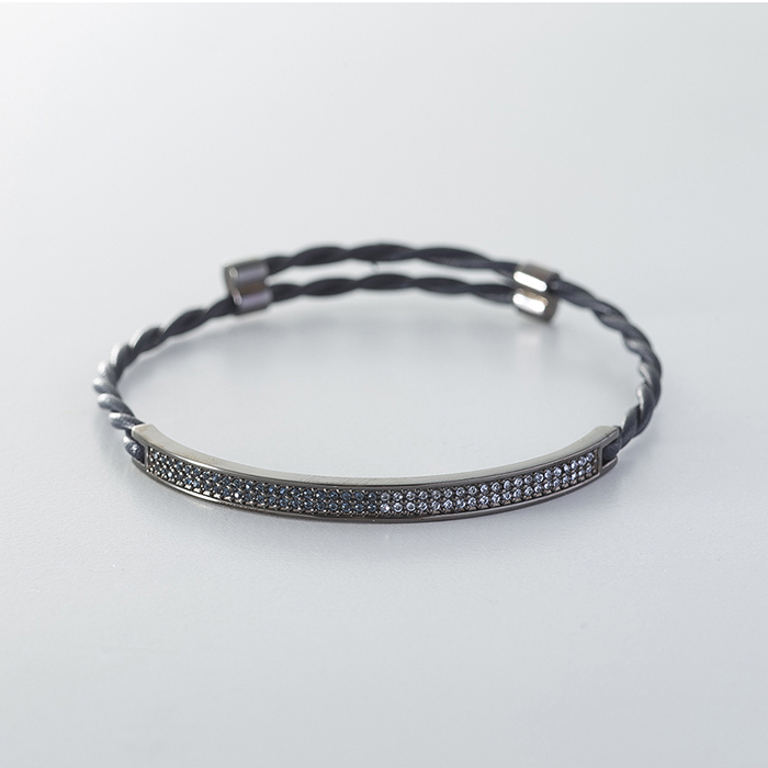 PAVE Ⅱ LEATHER BRACELET